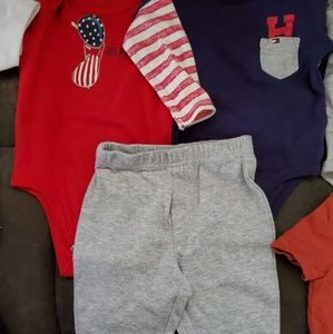 Tommy Hilfiger jacket, 3 piece outfit, and onesie